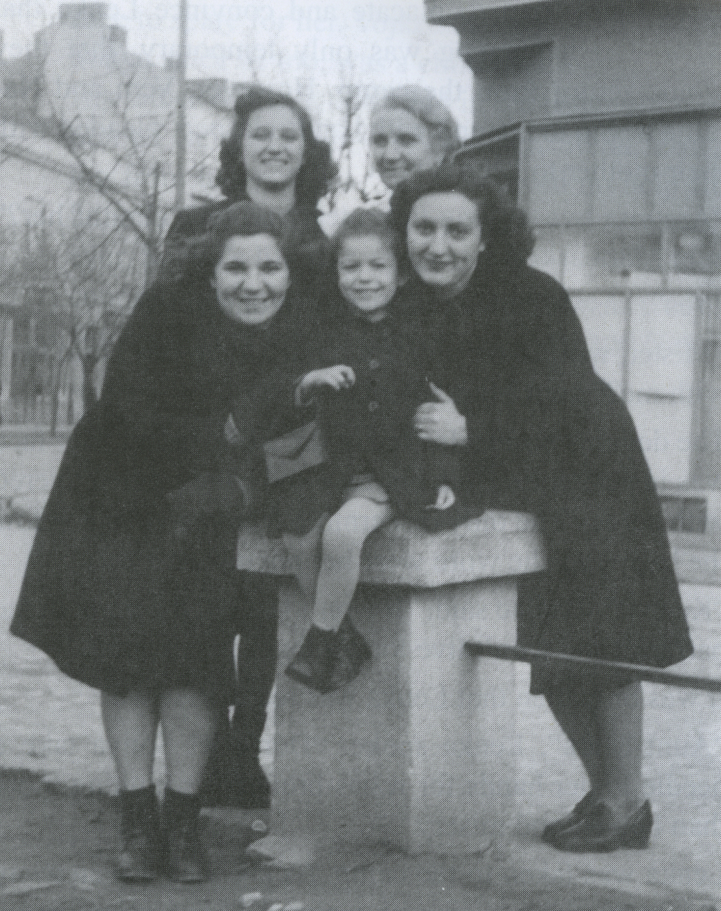 Vera and Marija standing.Bottom row friend, Sonya and Natalija (1943)