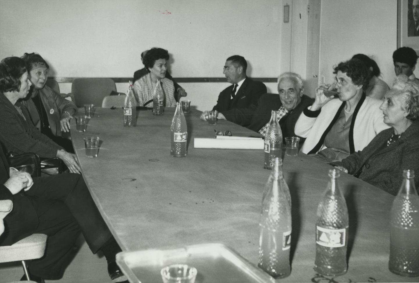 Ceremony in honor of Adelaide Hautval. Yad Vashem, 17.04.1966