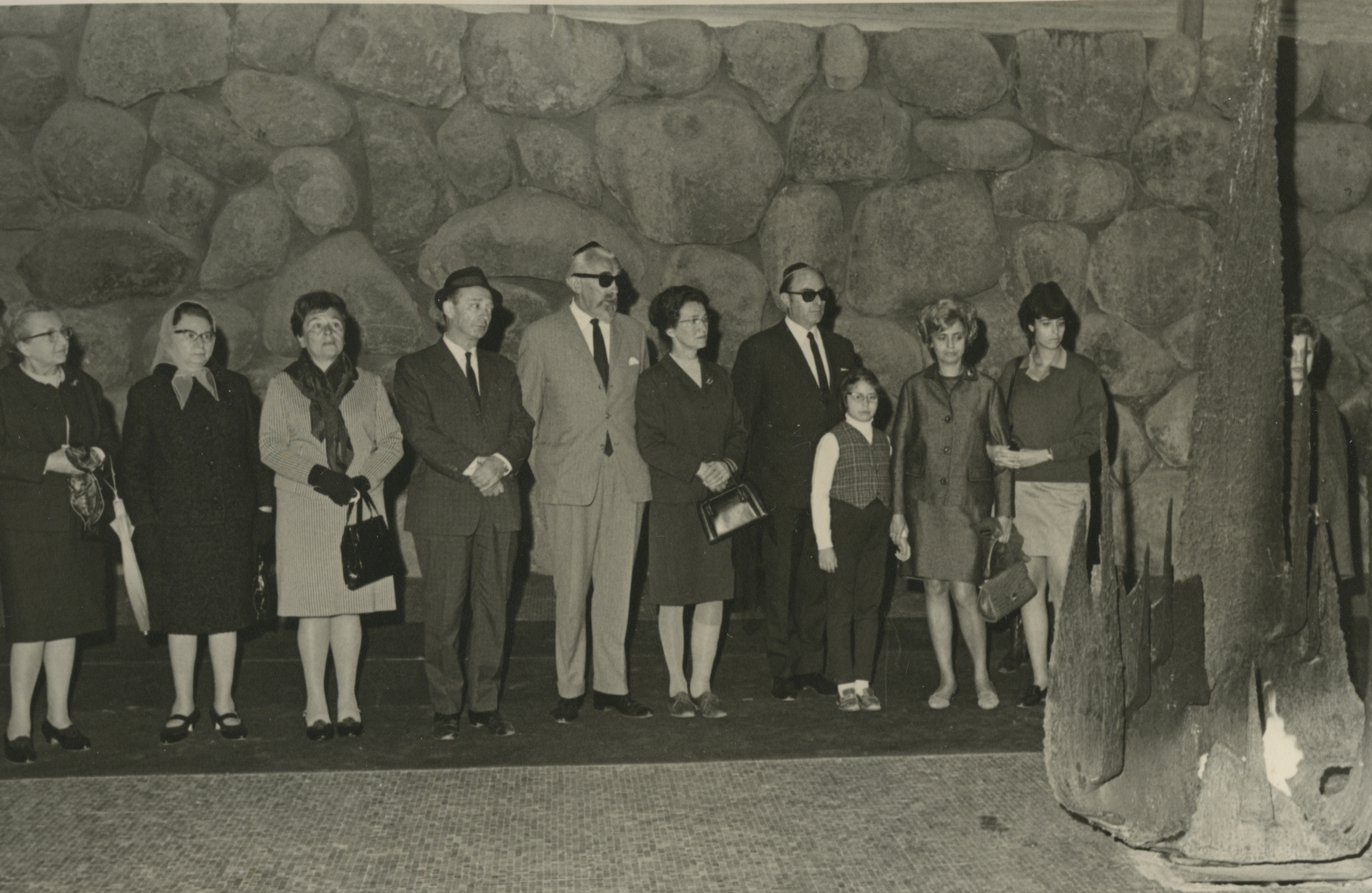 Ceremony in Honor of Eppo and Janke Kooy in the Hall of Remembrance. Yad Vashem, 18.04.1969
