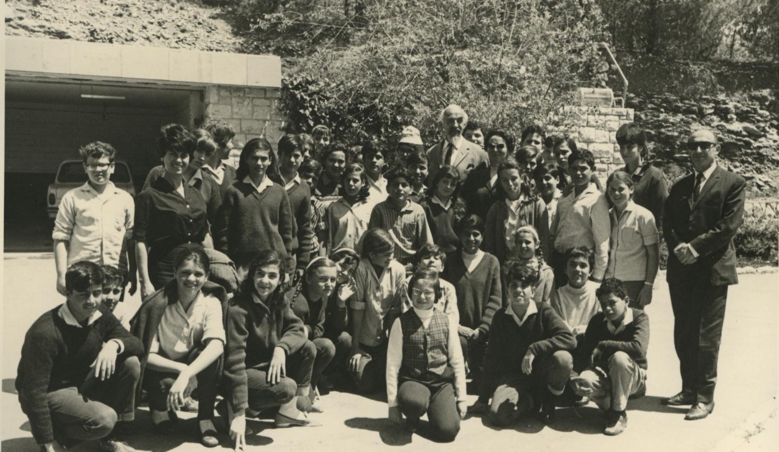 Tree Planting Ceremony in Honor of Eppo and Janke Kooy. Yad Vashem. 18.04.1969