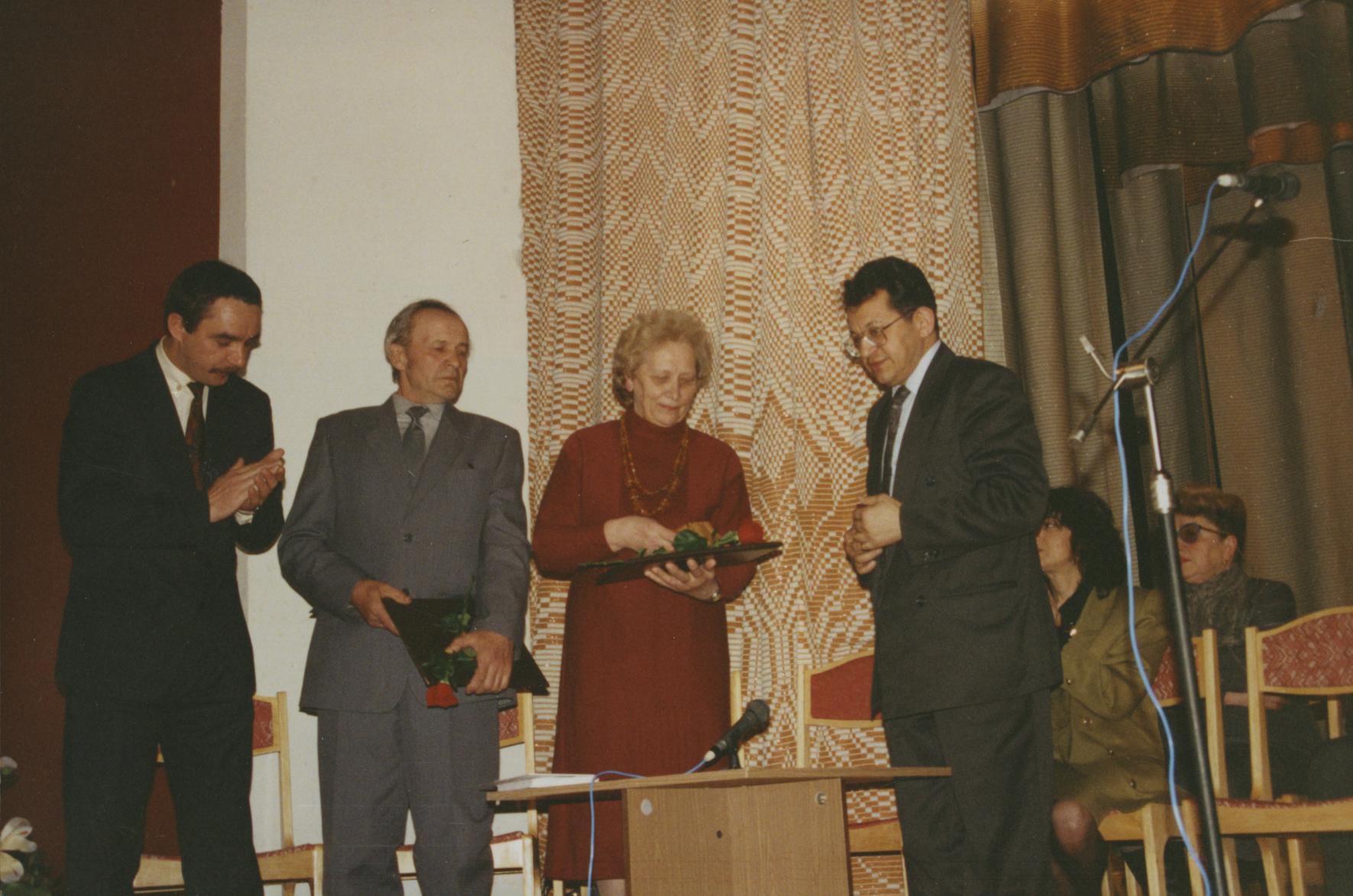 Award Ceremony in honor of Konstantin Kozlovskiy and his sons. Mogilev, 10.04.1994