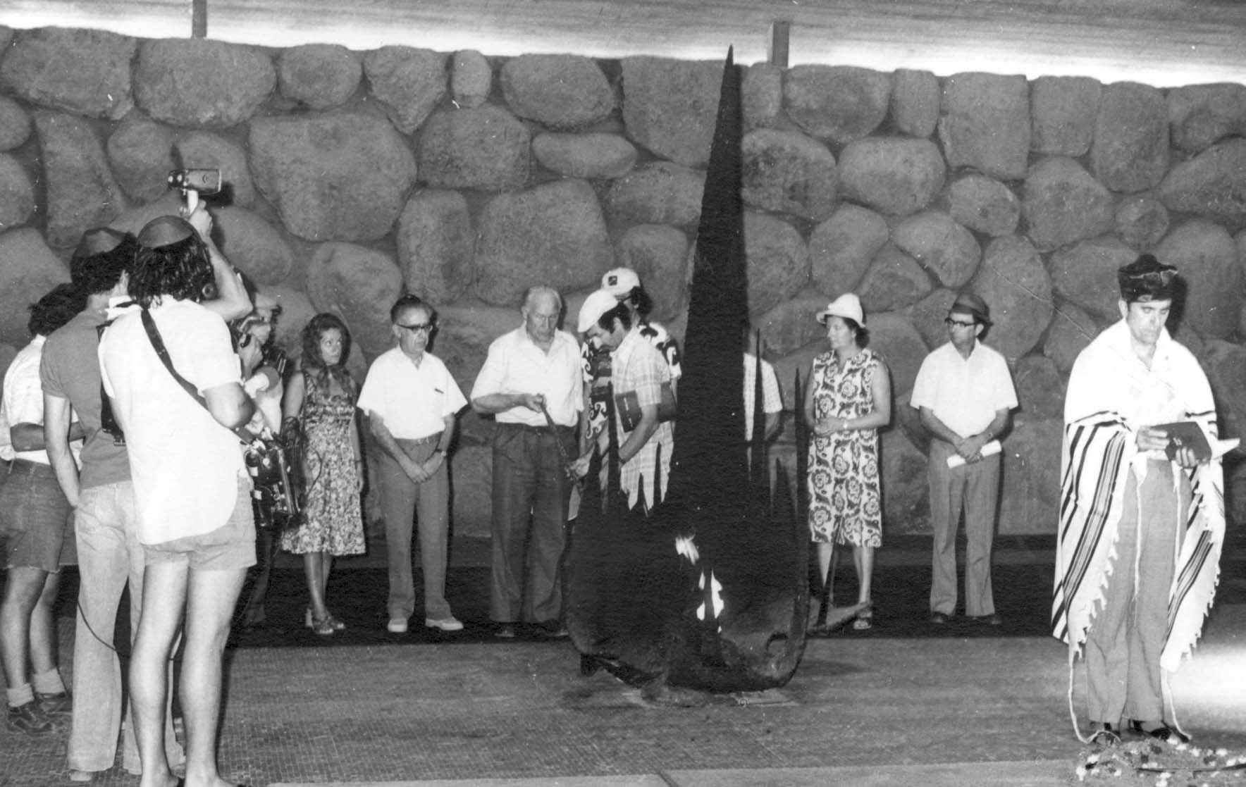 Rescuer Janis Lipke at the Righteous Among the Nations Award ceremony, August 25, 1977