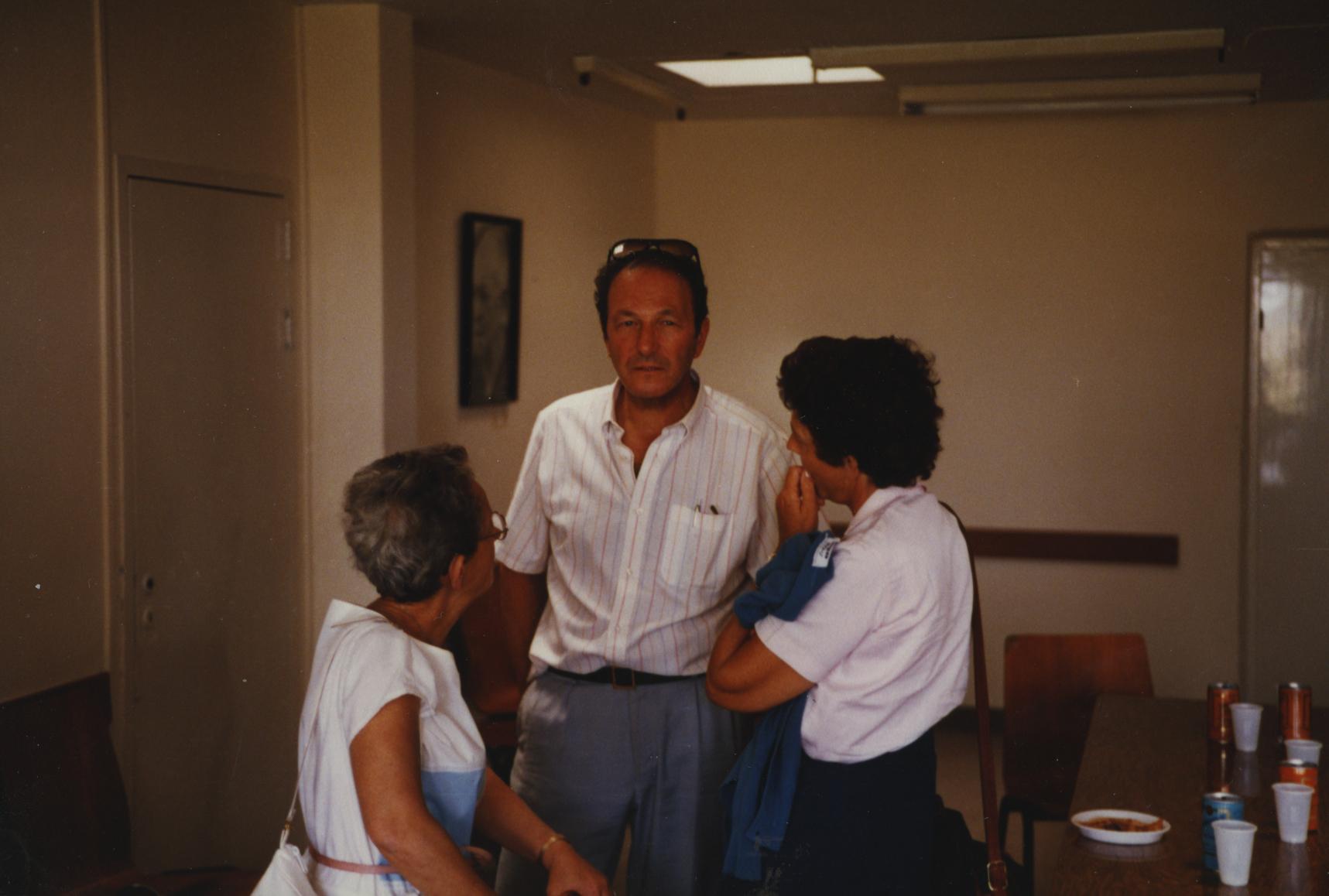 Tree Planting Ceremony in Honor of Gilbert Lesage. Yad Vashem. 24.05.1985