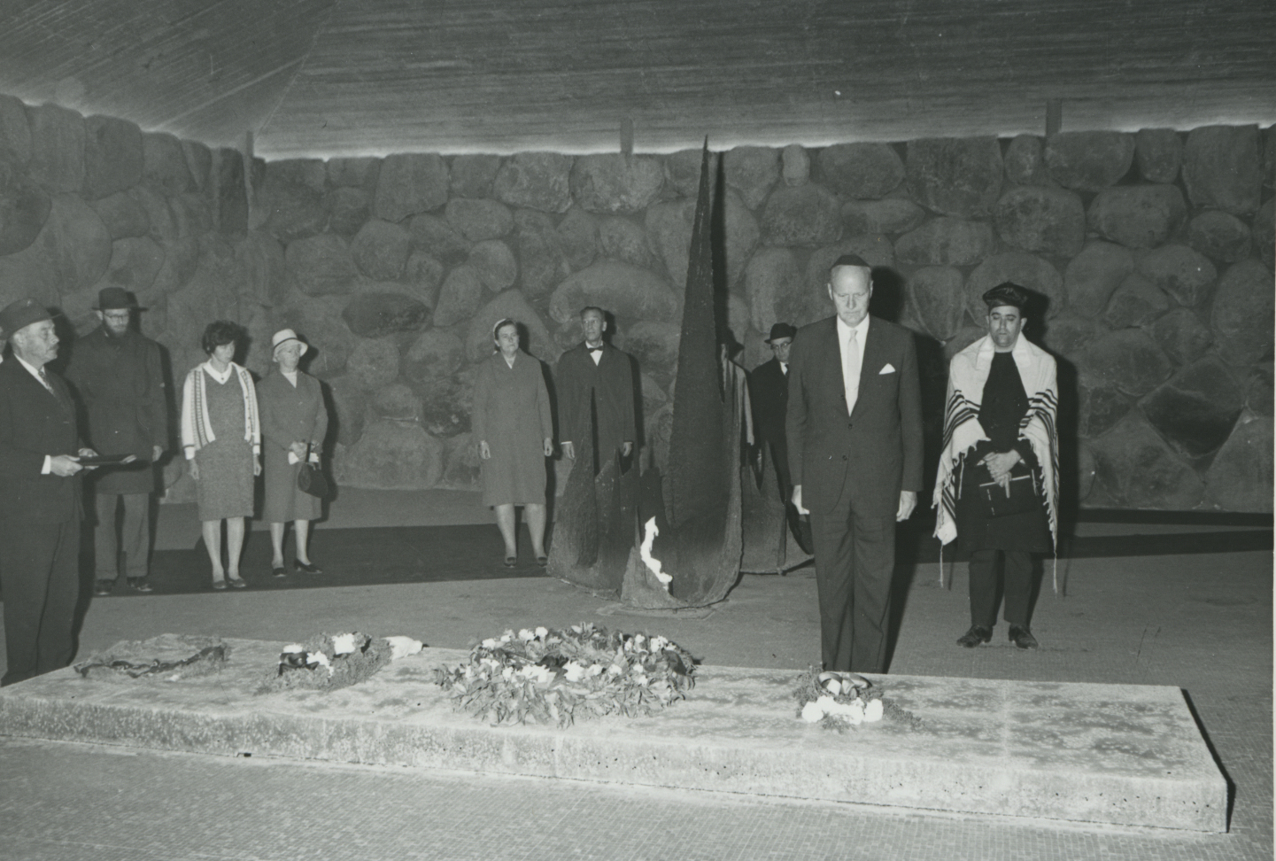 Ceremony in Honor of Ingebjorg Sletten in the Hall of Remembrance. Yad Vashem, 21.03.1967
