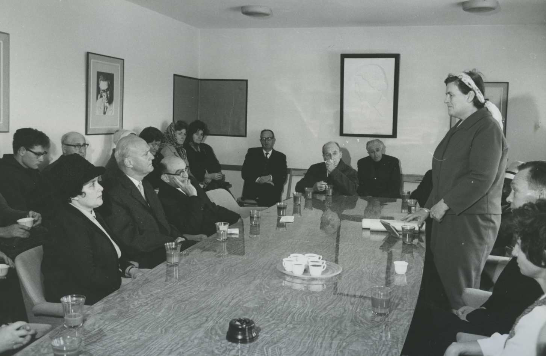 Tree Planting Ceremony in Honor of Ingebjorg Sletten. Yad Vashem. 21.03.1967