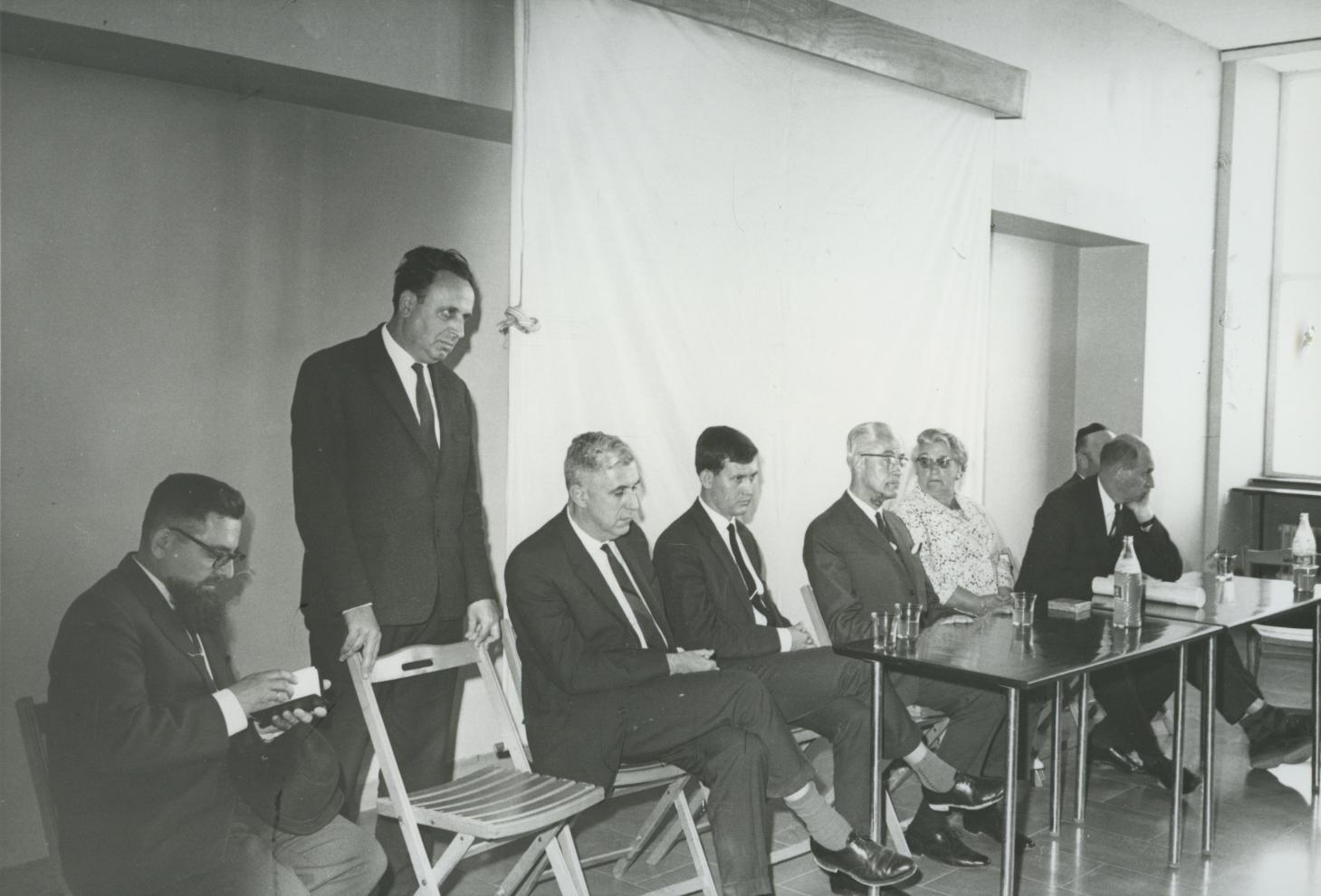 Tree Planting Ceremony in Honor of Wijsmuller Gertud. Yad Vashem. 13.04.1967