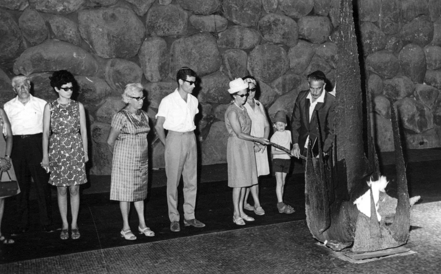 Ceremony In Honor Of Gerda Valentiner In The Hall Of Remembrance. Yad  Vashem, 28.07