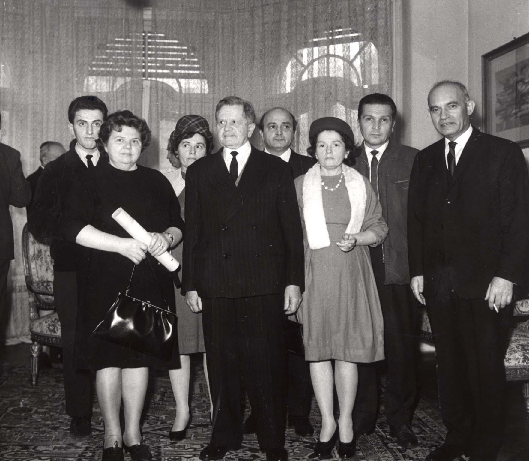 Ceremony in honor of Vilmos Nagybaczoni